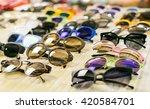 fashion sunglasses in shop | Shutterstock . vector #420584701