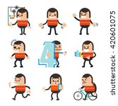 set of human character poses ... | Shutterstock .eps vector #420601075
