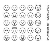 emotions smiles set. smiles... | Shutterstock .eps vector #420602437