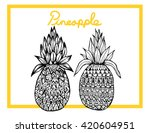 hand drawing abstract pineapple | Shutterstock .eps vector #420604951