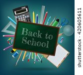 back to school background ... | Shutterstock .eps vector #420605611