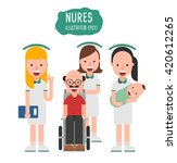 nurse set. vector illustration | Shutterstock .eps vector #420612265