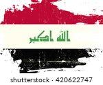 iraq scratched flag. an iraqi... | Shutterstock .eps vector #420622747