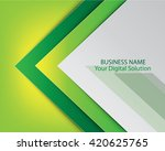 business template green design | Shutterstock .eps vector #420625765