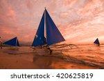 boracay  philippines   january... | Shutterstock . vector #420625819