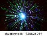 abstract fibre optic light... | Shutterstock . vector #420626059