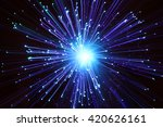 abstract fibre optic light... | Shutterstock . vector #420626161
