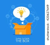 thinking out of the box concept ... | Shutterstock . vector #420627649