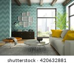interior of living room with... | Shutterstock . vector #420632881