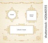 vintage islamic style brochure... | Shutterstock .eps vector #420640555