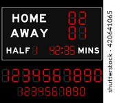 scoreboard with red digital... | Shutterstock .eps vector #420641065