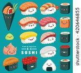 vintage sushi poster design... | Shutterstock .eps vector #420646855