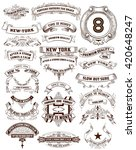 26 labels and banners. vector... | Shutterstock .eps vector #420648247