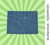map of colorado | Shutterstock .eps vector #420649204