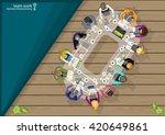 vector team work businessman... | Shutterstock .eps vector #420649861