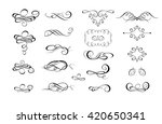 collection of calligraphic... | Shutterstock .eps vector #420650341