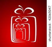 stylized gift vector | Shutterstock .eps vector #42065047