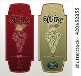set of vector labels for wine... | Shutterstock .eps vector #420652855