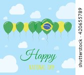 brazil national day flat... | Shutterstock .eps vector #420655789