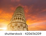 Leaning Tower And The Cathedra...
