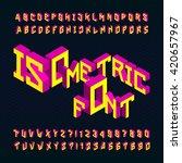 isometric alphabet font. 3d... | Shutterstock .eps vector #420657967