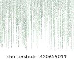 matrix code on white background   Shutterstock . vector #420659011