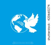 earth dove vector illustration | Shutterstock .eps vector #420660274