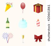 icon set for holiday season.... | Shutterstock .eps vector #420661861