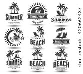 Summer Holidays Design Elements ...