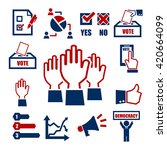 democracy  vote icon set | Shutterstock .eps vector #420664099