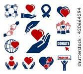 donate  charity icon set   Shutterstock .eps vector #420664294