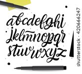 vector abc set. painted type.... | Shutterstock .eps vector #420666247