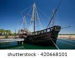 true sized replica of ancient... | Shutterstock . vector #420668101