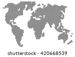 abstract computer graphic world ... | Shutterstock .eps vector #420668539