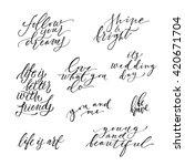 huge hand drawn lettering set....   Shutterstock .eps vector #420671704