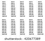 isolated multiplication table... | Shutterstock .eps vector #420677389