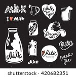 set of milk logo and design... | Shutterstock .eps vector #420682351