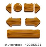 cartoon wood buttons for game... | Shutterstock . vector #420683131