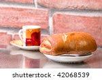 rural kitchen with cinnamon... | Shutterstock . vector #42068539