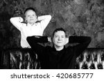 Portrait Of Dad And Son In The...