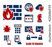firewall icon set | Shutterstock .eps vector #420686959