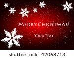 christmas greeting card | Shutterstock .eps vector #42068713