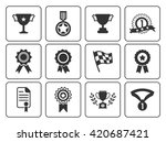 winner icons  | Shutterstock .eps vector #420687421