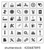 industrial icons set | Shutterstock .eps vector #420687895