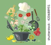 creative cooking collection... | Shutterstock .eps vector #420688951