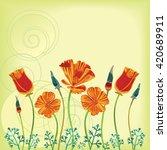 vector clump of california... | Shutterstock .eps vector #420689911
