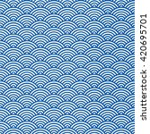 vector blue seamless pattern.... | Shutterstock .eps vector #420695701
