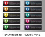 colorful modern text box... | Shutterstock .eps vector #420697441