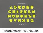 set of stylized  alphabet... | Shutterstock .eps vector #420702805