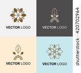 modern stylish organic logo...   Shutterstock .eps vector #420702964